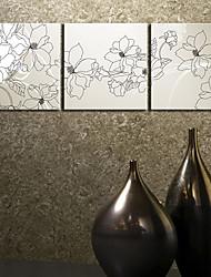 Canvas Art Botânico Grupo Flor Conjunto de 3
