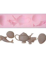 Soft-Silikon-Kuchen Mold Teekanne & Shell Form