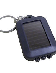 3xLED Solar Power LED Flashlight Keychain (noir)