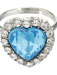 Sapphire Crystal Bague cœur de l'océan