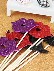 décoration de mariage drôles accessoires-chaque lèvre de la modélisation et de la bouche photo stand un pack 4