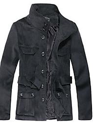 Stand collare di lana cappotto grigio VALS Uomo