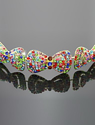 Bellezza di bowknot della lega di stile Tiaras con strass