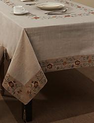 """69 """"X104"""" Retro Style Beige Lino floreale e panno di cotone da tavolo"""