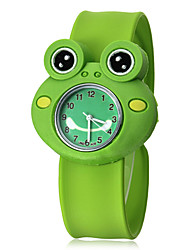 Children's 3D Kikker Shape siliconen band quartz analoog Slap Wrist Watch