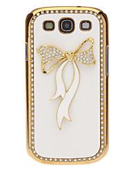 Кристалл Bling Bowknot шаблон Кожаный чехол для Samsung I9300 Galaxy S3