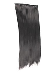 """20 """"Straight Hair Extensions mit Clips Schwarz"""