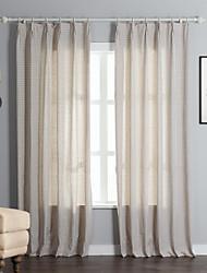 (Dois painéis) roupa de bolinhas / algodão jacquard cortina eco-friendly