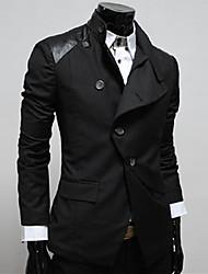 Cuir noir de REVERIE UOMO hommes Slim Fit Casual Suit petites