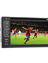 "6.2 ""TFT 2DIN auto in-dash dvd supporto giocatore bt, rds, touch screen"