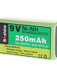 Soshine 250mAh Ni-MH Rechargeable Battery (9V)