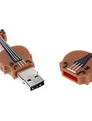 2GB de borracha macia Classical Violin USB Flash Drive