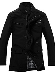 Men's Coats & Jackets , Polyester Casual/Work Honupr