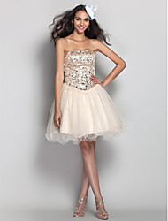 TS Couture Cocktail Party Homecoming Prom Holiday Dress - Short A-line Princess Strapless Short / Mini Tulle withCrystal Detailing