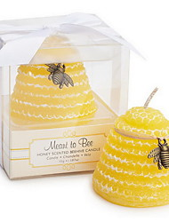 """""""Meant to Bee"""" Honey-Scented Beehive Candle Favor"""