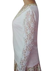 Women's Tops & Blouses , Cotton/Polyester/Spandex XNR