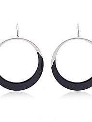 Enamel Circle Drop Earrings(More Colors)