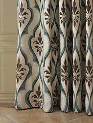 (Dois painéis) michelle luxury® rococó linhas curvas cortina de poupança de energia