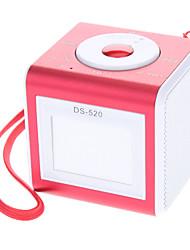 Digital Micro SD/TF/USB Music Speaker with Mini USB Port/3.5mm Plug(Pink)