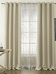 Two Panels Curtain Modern Polyester Material Blackout Curtains Drapes Home Decoration For Window