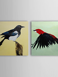 Hand Painted Oil Painting Animal Two Birds with Stretched Frame Set of 2 1310-AN1033
