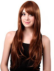 Capless Long Synthetic Golden Wavy Hair Wig Side Bang