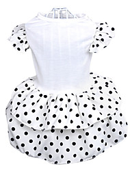 Dog Dress White Summer Polka Dots Wedding
