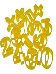 Цифры и знак операции Форма Cookie Cutter Плесень набор из 14 шт