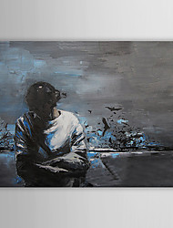 Peint à la main peinture à l'huile abstraite avec cadre étiré Pensée 1310-AB1059