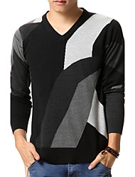 Men's Sweaters , Cotton Blend Casual/Work RUILIKE
