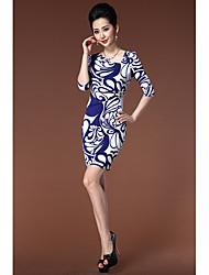 Lindo vestido fino de impressão YBKCP da Mulher