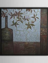 Natureza Morta Pinturas a Óleo Emolduradas Wall Art,Poliestireno Preto Sem Cartolina de Passepartout com frame Wall Art