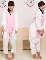 Kigurumi Pajamas Angel Leotard/Onesie Festival/Holiday Animal Sleepwear Halloween White Pink Patchwork Coral fleece Kigurumi For Unisex
