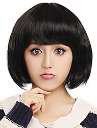 Capless Short High Quality Synthetic Black Wig