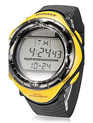 Men's Multi-Function Digital Dial Rubber Band Quartz Analog Wrist Watch (Assorted Colors)