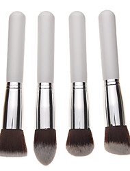 4PCS White Handle Foundation Make-Up Brush Set