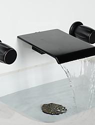 Vintage Style Öl-rieb Bronze verbreitet Wasserfall Badezimmer Badewanne Wasserhahn