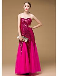Dan'S Bandeau Sequin Long Fishtail Dress