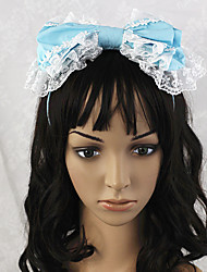 Handmade Sky Blue White Lace bowknot Sweet Lolita Stirnband