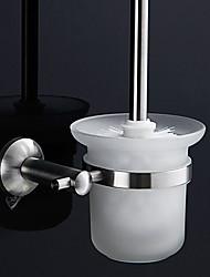 Durable inoxydable Supports Toiletbrush contemporaine en acier