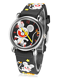 Children's Little Round Dial 3D Little Mouse Patern Silicone Band Quartz Analog Wrist Watch