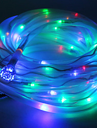 Multicolor solaire Tube Rope 100 cordes LED Lampe Garden Party Decor