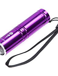 KX-H60 Cree XP-E R2 210LM 3-Mode Branco Lanterna Zoom - Roxo (1 x 14500/1 x AA)