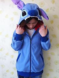 Kigurumi Pajamas Stitch Leotard/Onesie Halloween Animal Sleepwear Blue Patchwork Polar Fleece Kigurumi UnisexHalloween / Christmas /