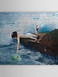 Hand Painted Oil Painting People Grabbing with Stretched Frame 1310-PE1193