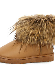 Women's PU Leather Winter Boots with Fur