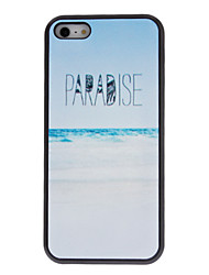 Simple Designed White-sand Beaches Pattern Hard Case with Matte Back Cover for iPhone 5C