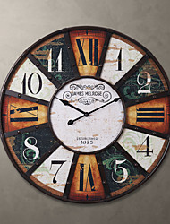 "H24 ""Country Style Square Metal Wall Clock"