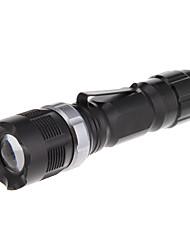 RS-821 3-Mode Cree XP-E Q5 White LED Zoom Flashlight (240LM, 1xAA/14500, Black)