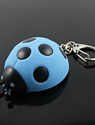 Beetle Shaped Pendant Key Chain Ring with LED Light & Voice(Random Color)